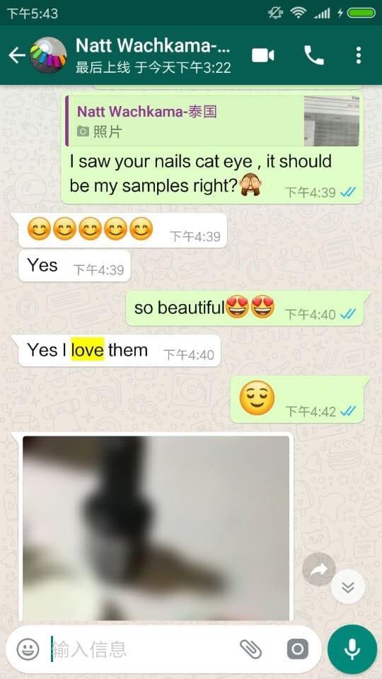 RONIKI Nail Polish Tailand Customer Feedback