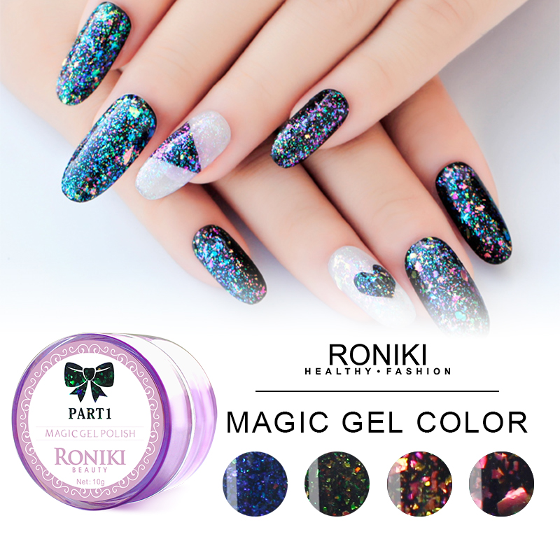 RONIKI FIREWORKS MAGIC COLOR GEL POLISH