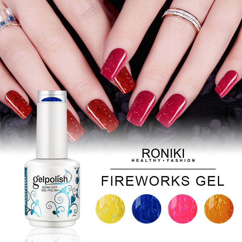 RONIKI FIREWORKS COLOR GEL POLISH