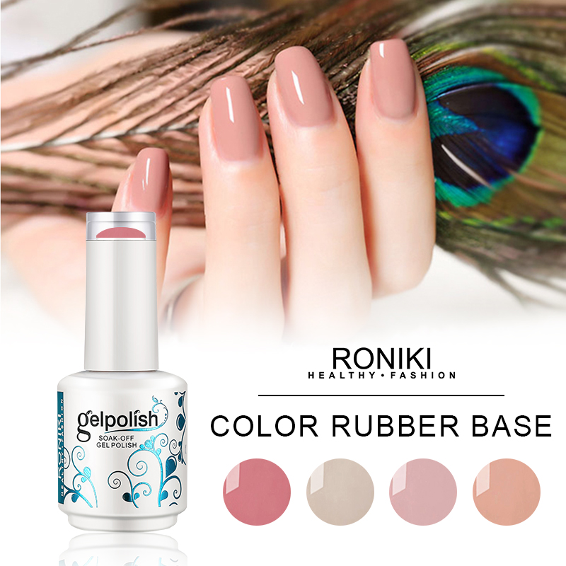 RONIKI RUBBER BASE GEL POLISH