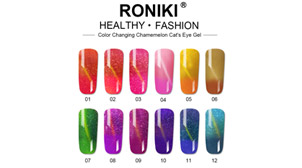 RONIKI NEW PRODUCT COLOR CHANGING CHAMELEON CAT'S EYE GEL