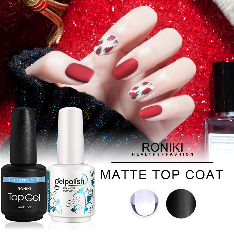 RONIKI UV/LED Matte Top Coat
