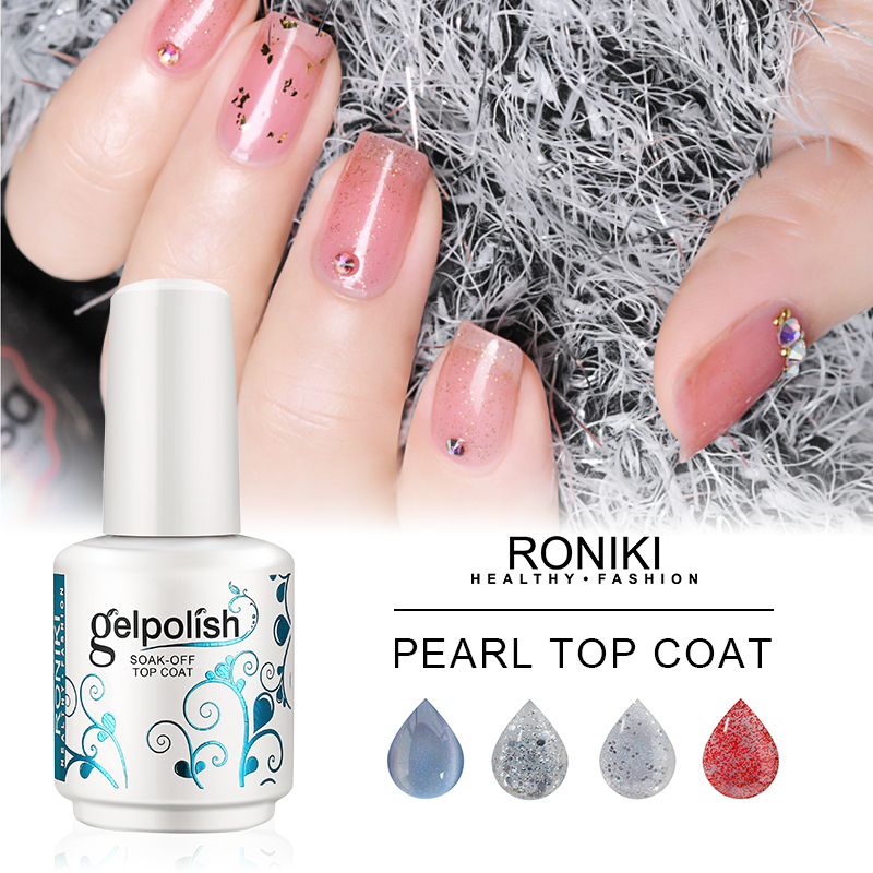 RONIKI UV/LED Pearl  Top Coat