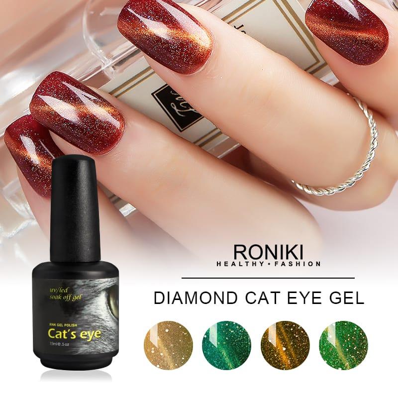 Colorful Cat Eye Gel Polish