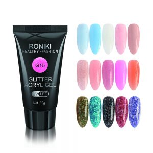 RONIKI Supply nail extension Color glitter Acryl poly gel