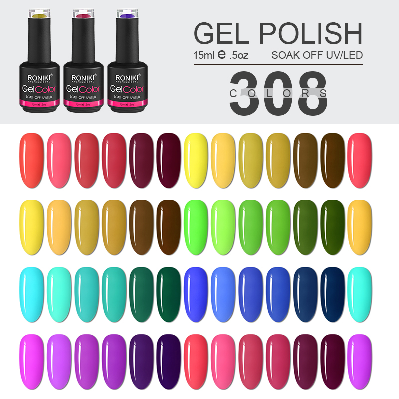 RONIKI gel nail polish Custom new Bottles Colors gel polish wholesale