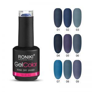 RONIKI Indigo Color Uv Nail Gel Polish